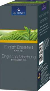 Sir Henry Tchibo Englische Mischung, Schwarzer Tee, Teebeutel im Kuvert, 2. Entnahmefach/displaytau