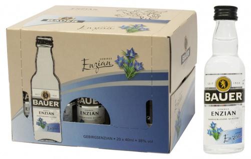 Bauer Styrian Panther Spirit Gebirgs-Enzian, 38 % Vol.Alk., 20 x 40 ml