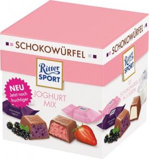 Ritter Sport Schokowürfel Joghurt Mix, 3 Sorten (Joghurt, Erdbeer-Joghurt, Johannisbeer-Joghurt), 2