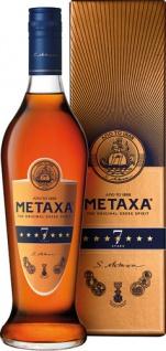 METAXA 7 Stern Amphora, 40 % Vol.Alk., Griechenland, im Geschenkkarton