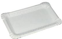 Pappteller/Würsteltasse klein, 10 x 16 cm, weiß