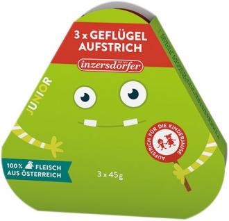 Inzersdorfer Junior Geflügelaufstrich, 3 x 45 g
