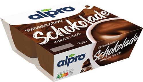 Alpro Pflanzliches Dessert Schokolade, 4er Packung