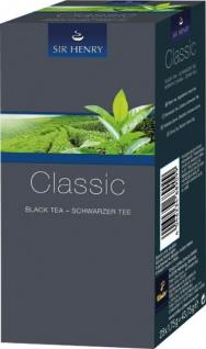 Sir Henry Tchibo Classic, Schwarzer Tee, Teebeutel im Kuvert, 2. Entnahmefach/displaytauglich
