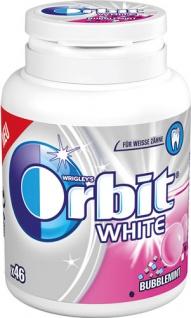 Wrigley's Orbit White Bubblemint Dragees, 46 Stück