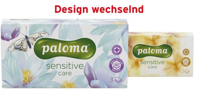 Paloma Kosmetiktücher-Box Sensitive Care Shea Butter Balsam, 3-lagig, Design wechselnd