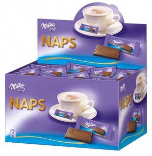Milka Naps Alpenmilch, einzeln verpackt, ca. 355 Stück