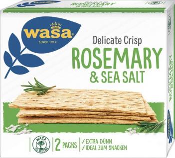 Wasa Delicate Crisp Rosmarin & Salz, Knäckebrot
