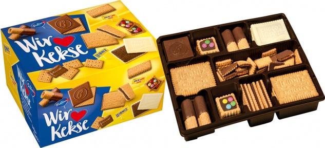 Bahlsen Unsere Keksfamilie, Keks- und Waffelmischung, 7 Sorten (4 x 280 g Frischepackungen)