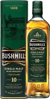 Bushmills Single Malt Irish Whiskey 10 Years, 40 % Vol.Alk., Irland, in Geschenkdose