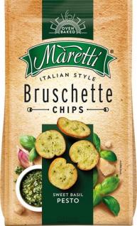 Maretti Bruschette Sweet Basil Pesto, Brotchips