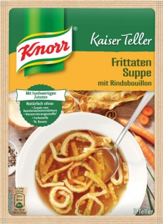 Knorr Kaiser Teller Frittaten-Suppe mit Rindsbouillon, 3 Teller