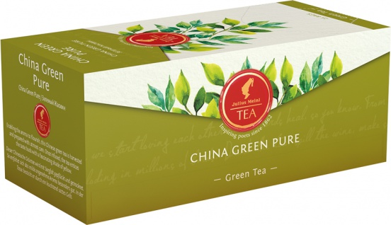 Julius Meinl China Green Pure, Grüner Tee, Teebeutel im Kuvert, 2. Entnahmefach/displaytauglich