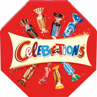 Celebrations (Twix, Milky Way, Snickers, Mars, Bounty, Dove, Dove Caramel, Maltesers, Teasers)