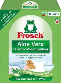 Frosch Waschmittel Sensitive Aloe Vera, Vollwaschmittel-Pulver BIO 18 WG