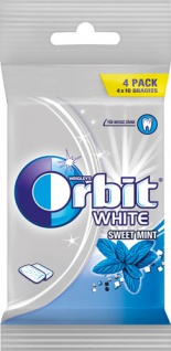 Wrigley's Orbit White Sweet Mint Dragees, 4er Packung