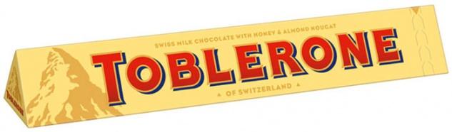 Toblerone Milch, Schweizer Milchschokolade mit Honig und Mandel
