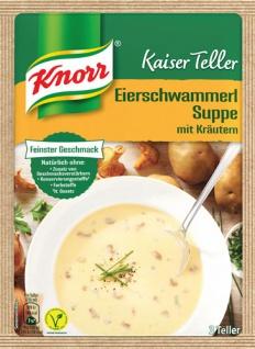 Knorr Kaiser Teller Eierschwammerl-Suppe mit Kräutern, vegan, 3 Teller
