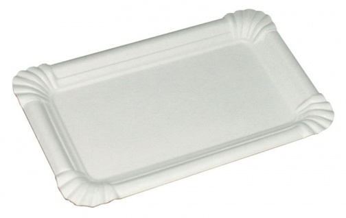 Pappteller/Würsteltasse groß, 16 x 23 cm, weiß