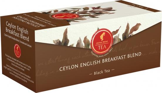 Julius Meinl Ceylon English Breakfast Blend, Schwarztee, Teebeutel im Kuvert, 2. Entnahmefach/displ