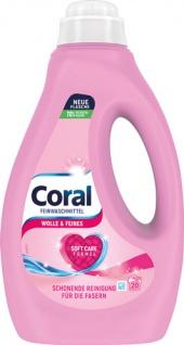 Coral Wolle & Feines, Feinwaschmittel flüssig 20 WG