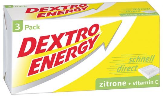 Dextro Energy Traubenzucker Zitrone mit Vitamin C, 3er-Würfel, 24 Stück