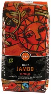 EZA Fairtrade Jambo Bio-Espresso, Ganze Bohne