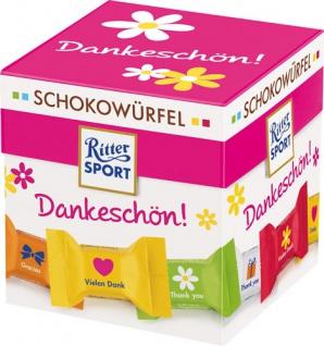 Ritter Sport Schokowürfel Dankeschön, 5 Sorten (Mousse au Chocolat, Schoko Crisp, Karamell Duo, Jog