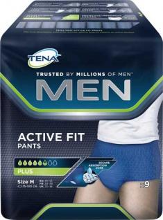 TENA MEN Pants Active Fit Plus Größe M (Hüftumfang 75 bis 105 cm), mittlere Blasenschwäche