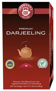 Teekanne Premium Darjeeling, Schwarztee, Teebeutel im Kuvert, 2. Entnahmefach/displaytauglich