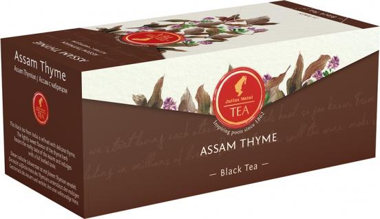 Julius Meinl Assam Thyme, Schwarztee mit Thymian, Teebeutel im Kuvert, 2. Entnahmefach/displaytaugl