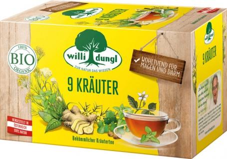 Willi Dungl Bio 9 Kräuter, bekömmlicher Kräutertee, Teebeutel im Kuvert