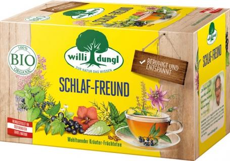 Willi Dungl Bio Schlaf-Freund, wohltuender Kräuter-Früchtetee, Teebeutel im Kuvert