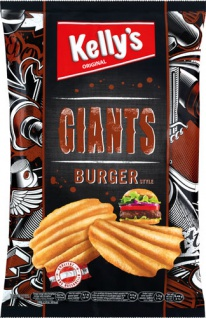 Kelly's Original Giants Chips Burger Style