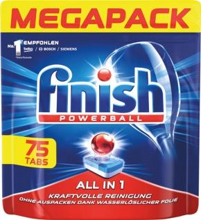 finish All-in-1 Megapack Powerball-Tabs Kraftvolle Reinigung, inkl. Salz- und Klarspülfunktion