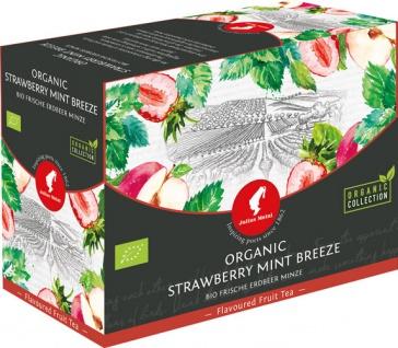 Julius Meinl Bio Erdbeere-Minze Big Bag (1 Beutel für ca. 1 lt. Wasser), Früchtetee, Teebeutel im K