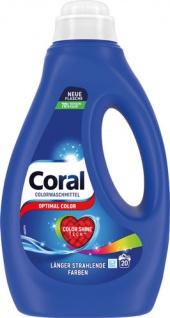 Coral Optimal Color, Colorwaschmittel flüssig 20 WG