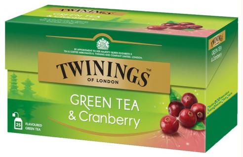 Twinings Green Tea & Cranberry, Grüntee, Teebeutel im Kuvert - Vorschau