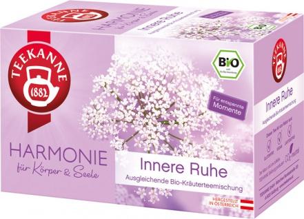 Teekanne Harmonie Bio Innere Ruhe, ausgleichende Kräuterteemischung, Teebeutel im Kuvert