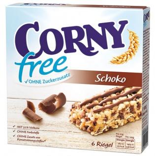 Corny free Schoko Müsliriegel ohne Zuckerzusatz, 6 Stück - Vorschau