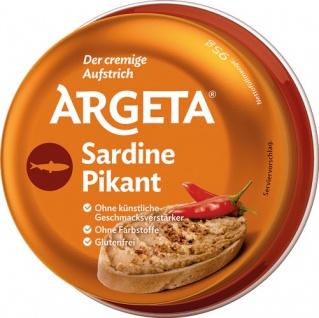 Argeta Sardine PIKANT, Aufstrich, glutenfrei