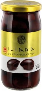 Iliada Griechische Kalamata-Oliven schwarz, mit Kern