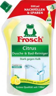 Frosch Citrus Dusche & Bad-Reiniger BIO, Nachfüllbeutel (ohne Pumpe)