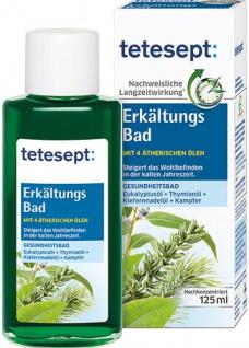 tetesept Badekonzentrat Erkältung, mit Eukalyptus, Thymian, Kiefernadel & Kampfer