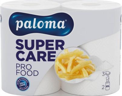 Paloma Küchenrolle Super Care PRO FOOD XXL 3-lagig, weiß, 2 Rollen à 100 Blatt (22, 2 x 26 cm), 100