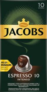 Jacobs Espresso Intenso 10, Nespresso-kompatibel, 10 Kaffeekapseln