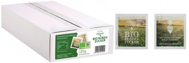 Wiener Zucker Bio Rübenzucker, 500 Briefchen à 3, 63 g
