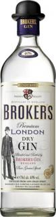 Broker's Premium London Dry Gin, 10 Botanicals, 40 % Vol.Alk.