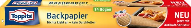 Toppits Backpapier-Bögen, mit Antihaft-Struktur, 14 Einzelbögen à 39 x 45 cm