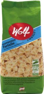 Wolf Hartweizen Farfalle, vegan, Papierpackung
